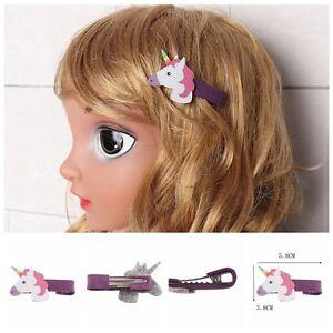 1-Pc-Mignon-Bebe-Licorne-Pince-a-Cheveux-en-Cuir-Synthetique-Licorne-Fille-Joli