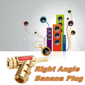 Gold-plated-Copper-4mm-Banana-Right-Angle-Plug-Cable-Free-Welding-Connector