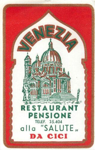 VENICE VENEZIA ITALY HOTEL PENCIONE ALLA SALUTE DA CICI LABEL