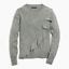 NEW J Crew Womens Ruffle Front Sweater Wool Bld Grey Camel S M L XL 2X 3X $69