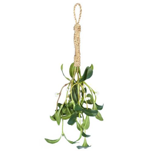 künstlich Seide Mistelzweig Weihnachten Bündel groß 35cm 35.6cm