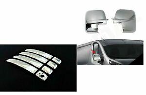 Se adapta a Opel Vivaro 2001-2014 cubiertas cromadas para espejos y manijas de puerta de 5 puertas S.S.
