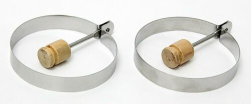 Egg Rings Set of 2 Stainless Steel Cook Perfect Eggs Pancakes Omelettes