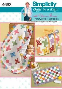 Simplicity-Pattern-4663-Quilt-In-A-Day-Diaper-Bag-Baby-Changing-Pad-One-Size