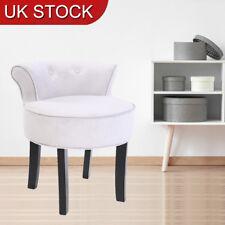 Retro Bedroom Dressing Table Stool Chenille Vanity Tub Chair with Black Legs