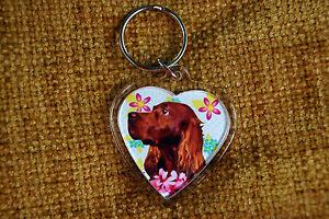 Irish-Setter-Red-Gift-Keyring-Dog-Key-Ring-heart-Birthday-Gift-Mothers-Day-Gift
