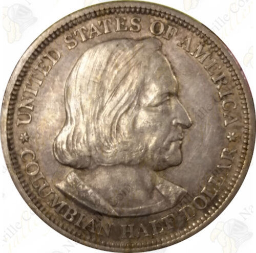 SKU #42115 1892 or 1893 Columbian Expo Commemorative 90/% Silver Half Dollar
