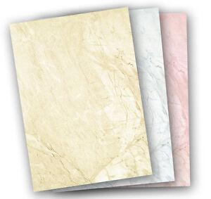 NEU-Briefpapier-DIN-A4-Braun-Blau-Rot-marmoriert-Marmorpapier-Motivpapier