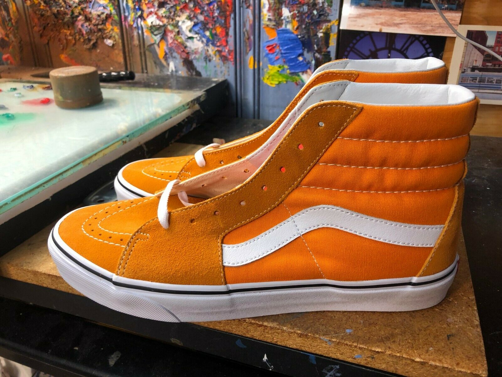 Vans Sk8-Hi Dark Cheddar True White Size US 11.5 Men's VN0A38GEUKU New orange