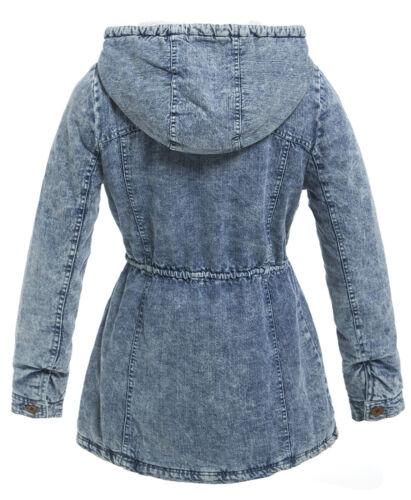 New Veste Taille Femme Parka 8 Womens Manteau Polaire 12 16 10 Rembourré 14 6 Denim 10 rBqr1g
