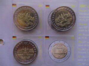 SERIE 5 ATELIERS X 2 EURO ALLEMAGNE 2007 A D F G J COMMEMORATIVES Neuves