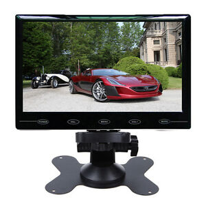 9-034-Ultra-thin-HD-800-480-TFT-LCD-2-CH-Video-Input-DVD-VCR-Car-Rear-View-Monitor