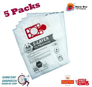 5 x Bags Compatible With Henry Hoover Bags Hetty James  Vacuum Cleaner