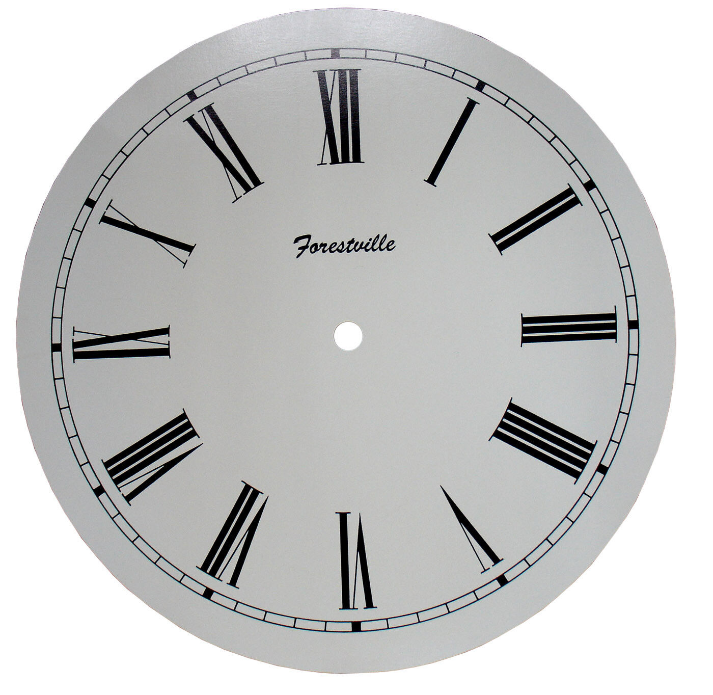 "New 10/"" Ivory Plastic Clock Dial Choose Arabic or Roman! C-606"