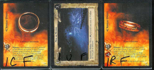 LOTR CCG TCG Fellowship Of The Ring Set Set Set FRENCH -P's 1cdfec