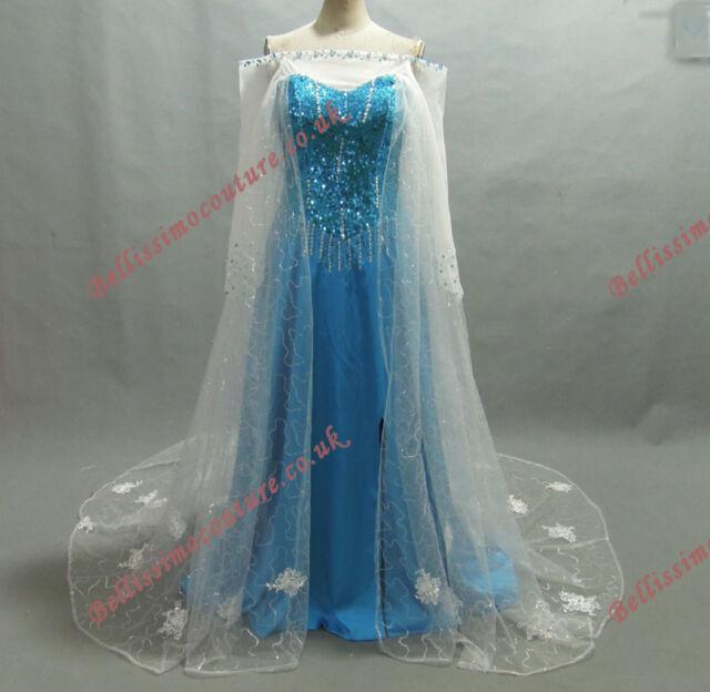 PLUS SIZE Disney Frozen Queen Elsa Costume adult SIZE 18,20,22,24,26  Elsa dress
