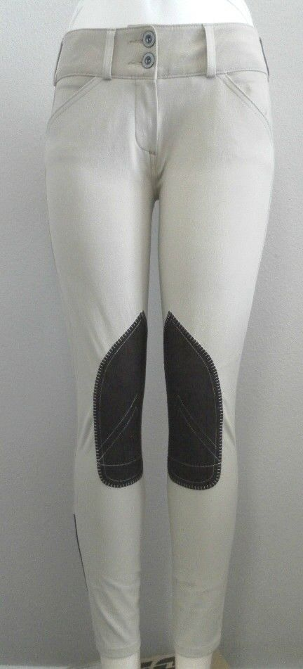 Ladies Breeches by Renard et Cheval in White and Tan Mid-Rise Various Sizes