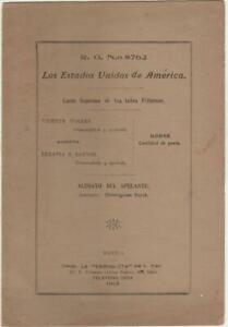1913 US Philippines  Supreme Court  Case w/ Hermogenes Reyes as Appelant Lawyer
