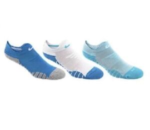 SX6070 Multicolor Blue Nike Womens Dry Cushioned Low Training Socks 3-Pack