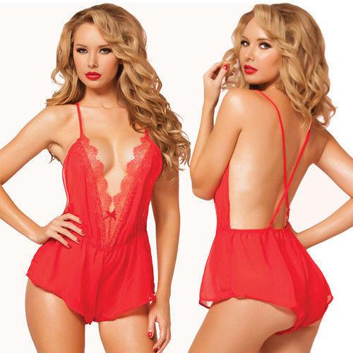 new Women Lady Lingerie Lace Nightwear Chemises Mini Dress Sleepwear Babydoll