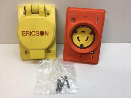 Ericson 2820FS10 Flip Seal All Weather Weatherproof Receptacle L5-20R 125V 20A