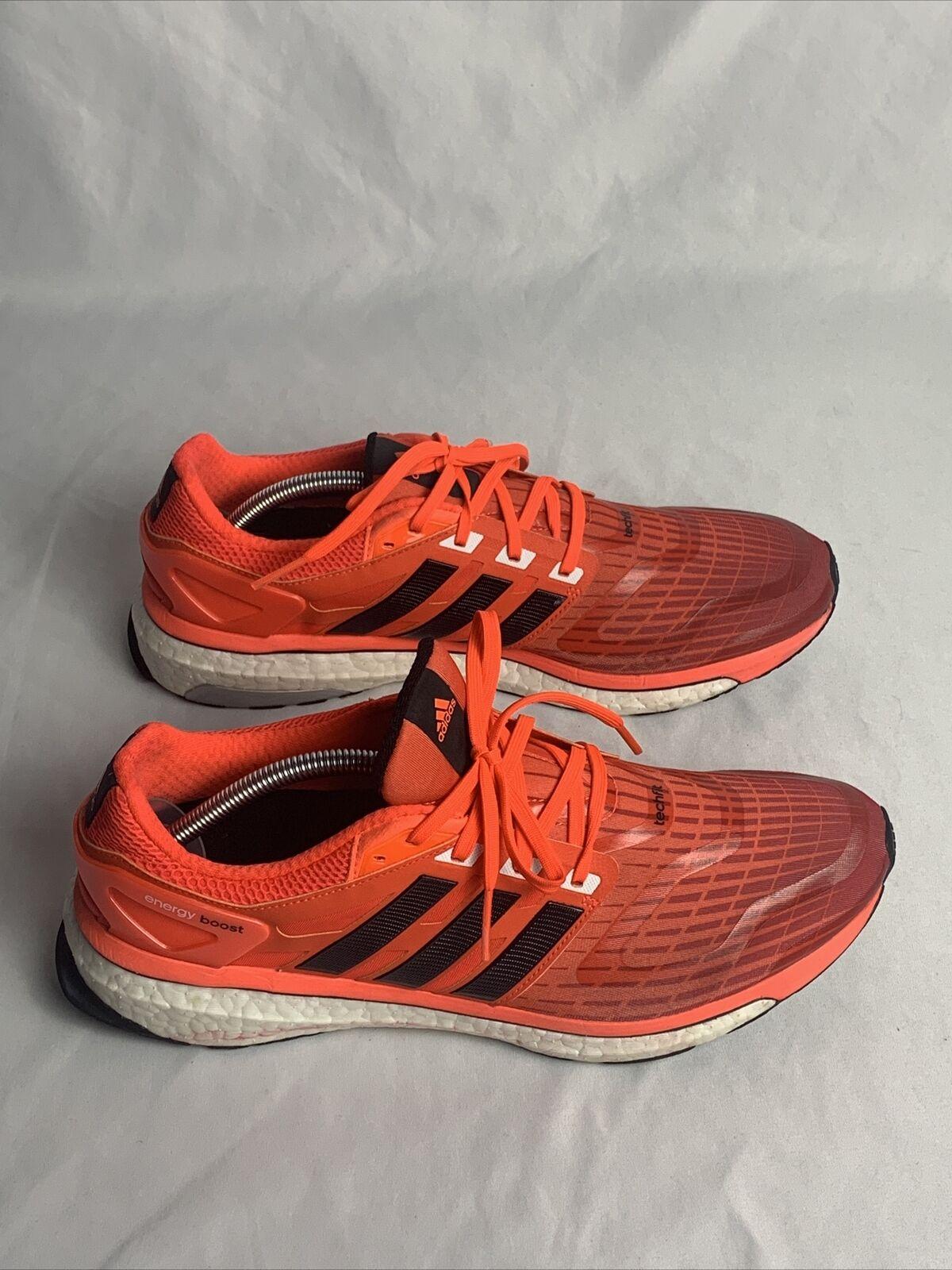 Men's Adidas Energy Boost Running Shoes Q33957 Orange… - Gem
