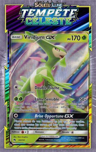 34//214 lost thunder French designer card pokemon Viridium gx-sl08
