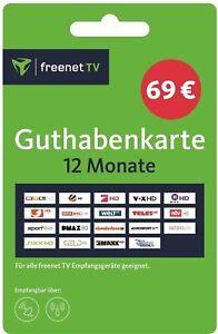 Freenet Karte.Freenet Tv Verlängerung Auflade Pin Code 12 Monate Dvb T2 Sat Hd