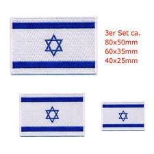 3 Israel Flaggen Flags mit Davidstern - Jerusalem Patch Aufnäher Aufbügler 0644