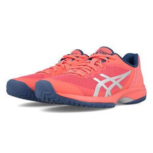 Détails sur Asics Femme Gel Cour Vitesse Chaussures De Tennis Orange Sport Respirant Léger afficher le titre d'origine