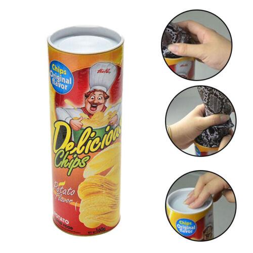 Fool/'s Day Toy Potato Chip Can Jump Fake Snake Joke Prank Halloween Gifts Trick