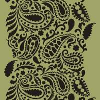 Paisley Craft Stencil - Size Small - By Cutting Edge Stencils
