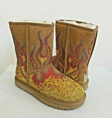 e78da2e9613 UGG X JEREMY SCOTT WOMEN CRYSTAL FLAME CHESTNUT BOOTS US 5 / EU 36 / UK 3.5  | eBay