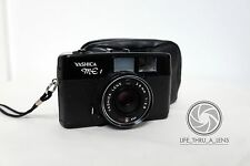 Yashica ME 1 35mm film point and shoot camera with case PARTS AND REPAIR