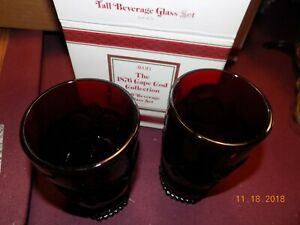 new-in-box-avon-1876-Cape-Cody-ruby-red-tall-Beverage-glass-set