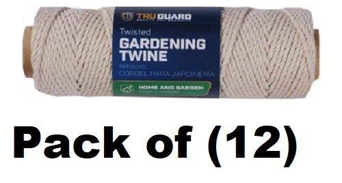 12 ea  Tru-Guard 641991 ( .085) x 150' Twisted Cotton Garden Twine