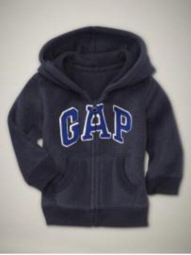 NWT Baby GAP Soft Fleece Arch Logo Hoodie Zip-Up Jacket Boys 3-6 12-18 18-24 mos