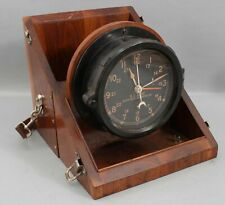 1950 Chelsea US Army Military Clock Message Center M2 Mahogany Carrying Box Case