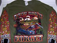 Biker L/s Od Green T Shirt Vets Dont Forget Full Color M-xl clearance Sale