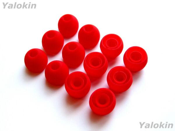 12pcs Medium Red Soft Replacement Eartips Earbuds For Monster Inear Earphones Aromatische Smaak