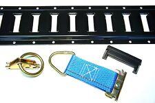 32pc E Track Kit f Enclosed Trailer Tie Down Toy Hauler Cargo Van ATV QUAD UTV
