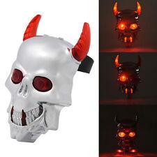 Skull Devil Bike Bicycle Rear Tail Light Laser 2 LED Warning Flashing Lamp