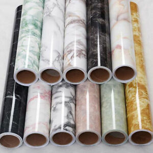 Marble-Contact-Paper-Self-Adhesive-Glossy-Worktop-Peel-Stick-Wallpaper-Stickers