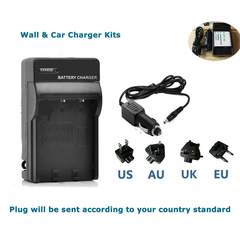 Battery Charger For NP-40 Casio Rechargeable Lithium EXZ1000 EXZ1050 EXZ1080