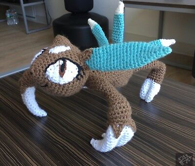 Handmade Crochet Pokemon Plush Toy- Umbreon | #2008808846 | 341x400