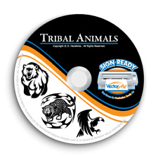 Tribal Animals Clipart Images Vector Clip Art Vinyl Cutter Plotter Graphics Cd