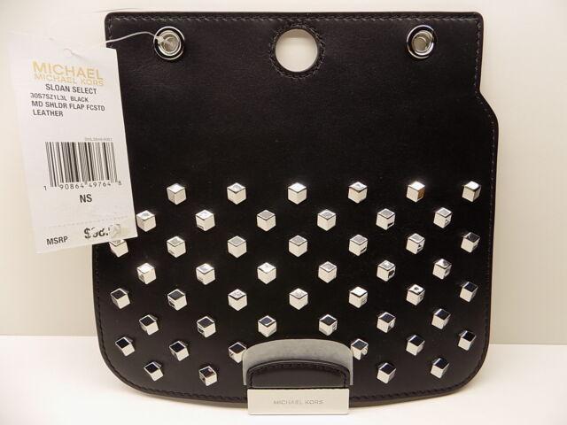 652fe8a0fcd5 ... order nwt michael kors sloan select black std md shoulder flap leather  43ff5 8e16d official michael michael kors sloan small shearling shoulder bag  ...