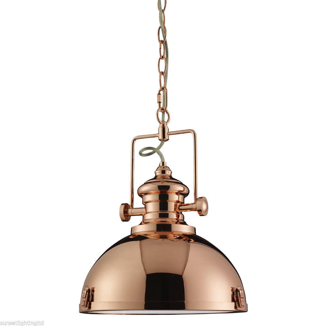 100d 2297cu 1 Luz Colgante, acabado de cobre Transparente De Acrílico Difusor. BNIB
