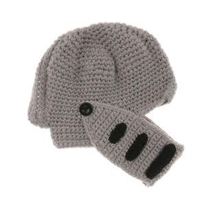 1b9a3070cb2 Roman Knight Helmet Knit Visor Winter Msk Beanie Hat Cap Mens Warm ...
