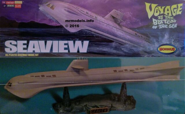 Moebius 1/350 Seaview  Voyage to the Bottom of the Sea New Plastic Model Kit 808